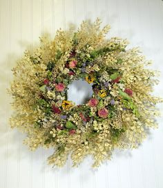 Prairie Wreath by summersweetboutique on Etsy