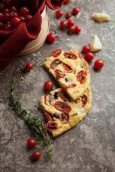 Cherry Tomato, Olive and Thyme Focaccia Bread