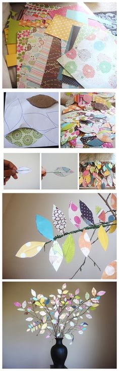 {DIY Scrapbook Paper Tree}