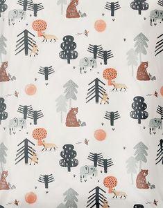 Spring Summer 2018 Tiny House of Rym. Kids Patterns, Cool Patterns, Print Patterns, Baby Wall Art, Bear Print, Woodland Theme, Swedish Design, Christmas Illustration, Baby Winter