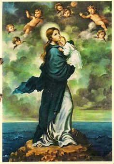 All about Mary. — Hail Mary, bright Star of the Sea. Mother Of Christ, Blessed Mother Mary, Blessed Virgin Mary, Mary Jesus Mother, Catholic Art, Catholic Saints, Religious Icons, Religious Art, Religious Paintings