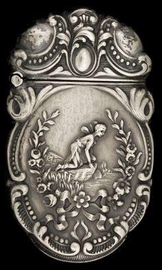 AN E&J BASS SILVER MATCH SAFE. E&J Bass, New York, New York, circa 1900.