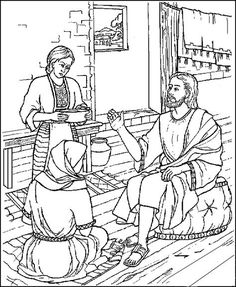 A Cup of Coffee Reflections- Jithin Jose kalan CMI: Theology of Priorities- Reflection On Martha & Mary (Luke Bible Crafts For Kids, Preschool Bible, Bible Activities, Sunday School Kids, Sunday School Crafts, Mary E Martha, Blog Da Tia Ale, Sunday School Coloring Pages, Religion Catolica