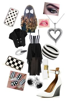 """Black and white"" by sarah82469 ❤ liked on Polyvore featuring CO, River Island, Principles by Ben de Lisi, Reeds Jewelers, Swarovski, Kate Spade and Justin Bieber"