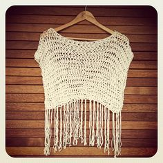St Tropez Fringe Crop Top  White by LoveBirdCollective on Etsy, $49.00