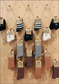 Wood Dowels Peg a Wall   Fixtures Close Up: Retail–POP