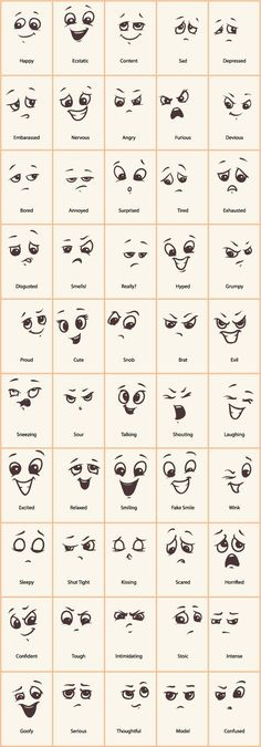 Decorative Rocks Ideas: Hand drawn funny expressions vector icons GooLoc … – - New Deko Sites Doodle Drawings, Easy Drawings, Funny Drawings, Drawing Cartoons, Funny Sketches, Cartoon Art, Zentangle Drawings, How To Draw Cartoons, Cute Cartoon Eyes