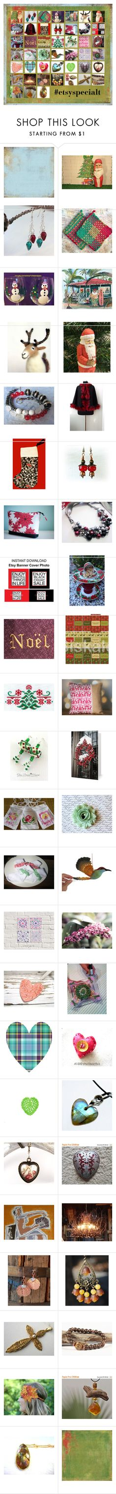 """""""A Special(T) Christmas"""" by rescuedofferings ❤ liked on Polyvore featuring Mele, Hostess, vintage, integrityTT and EtsySpecialT"""