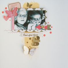 "Never Cut the Scrap!: ""This story belongs to you"" layout. #mymindseye #scrap #scrapbooking"