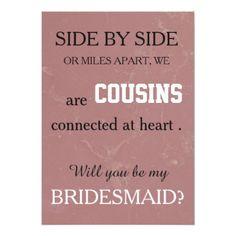 Will you be my bridesmaid? card - wedding invitations diy cyo special idea personalize card