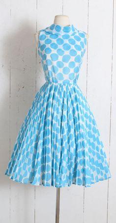 0c099d3680a0 Vintage 1950s Dress vintage 50s Carol Craig turquoise polka | Etsy 1950s  Fashion Women, 1950s