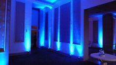 Wedding lighting at Greysolon Ballroom in Duluth, MN. Up lighting by Duluth Event Lighting.
