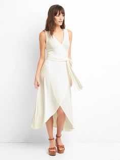 Softspun sleeveless wrap dress
