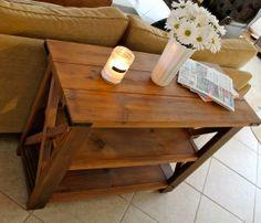rustic farmhouse decor | medium rustic FARMHOUSE TABLE 38x15x29 - Rustic country home decor
