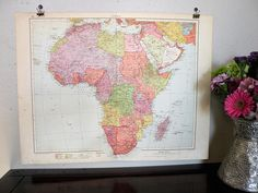1937 Africa Map, Cool Vintage Map of Africa, Original African  Map, WWII Era Map, Cool Old Map, Map for Framing, Gallery Wall