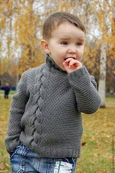 Great Cost-Free knitting patterns boys Tips Neuen Baby-Strickmuster, # bebecakes Baby Boy Knitting Patterns, Knitting For Kids, Crochet For Kids, Baby Patterns, Knitting Projects, Boy Crochet, Crochet Jumper, Free Knitting, Knit Baby Sweaters