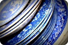 Vintage China Plates - all about blue