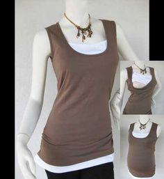 Maternity Clothes / Nursing Top / Breastfeeding Top / NEW MOCHA / Original Design / Nursing Tank with Built-inTankini / Free Shipping
