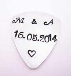 Boyfriend Guitar Pick Guy Gift For Him by RobertaValle on Etsy