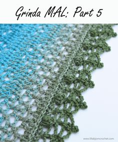 Ravelry: Grinda Shawl MAL pattern by Tatsiana Kupryianchyk Crochet Puntada Bobble, Bobble Stitch Crochet Blanket, Crochet Borders, Crochet Stitches, Crochet Patterns, Knit Crochet, Free Crochet, Crochet Shawls And Wraps, Crochet Scarves