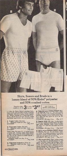 1975 Sears underwear EXPOSED man