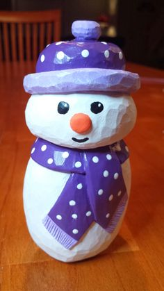 Carving | Folk Snowman | Pattern by Cyndi Joslyn