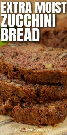 Zuchinni Bread, Zucchini Bread Recipes, Quick Bread Recipes, Banana Bread Recipes, Sweet Recipes, Baking Recipes, Dessert Recipes, Carrot Bread Recipe Moist, Banana Zucchini Bread Healthy