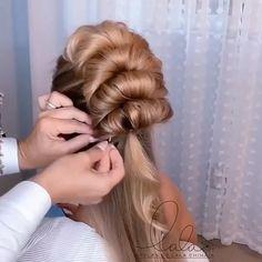 Hairdo For Long Hair, Hair Due, Bun Hairstyles For Long Hair, Braided Hairstyles, Wedding Hairstyles, Easy Formal Hairstyles, Front Hair Styles, Styles For Short Hair, Hair Upstyles