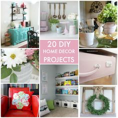 20 DIY Home Decor Projects!! Such pretty ideas for your home! -- Tatertots and Jello