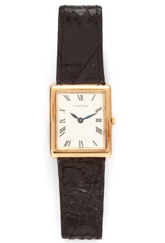 THE WIFE Gift Guide: Vintage Cartier 18k Gold Tank Watch