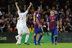 La Liga: FC Barcelona 1, Real Madrid CF 2. 21 April 2012. Camp Nou. Goals: Khedira (17'), Alexis (70'), Ronaldo (73')