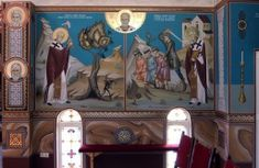 Biserica Sf. Ier. Nicolae - ursutz : gabi : pictura Sf, Icons, Painting, Weaving, Painting Art, Paintings, Paint, Draw, Ikon