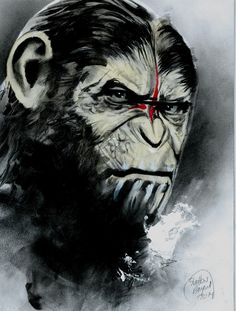 DAWN OF THE PLANET OF THE APES, in Shelton Bryant's Animal Kingdom Comic Art Gallery Room - 1143038