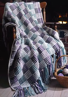 Leisure Arts - Checkerboard Afghan Crochet Pattern ePattern, $4.99 (http://www.leisurearts.com/products/checkerboard-afghan-crochet-pattern-digital-download.html)