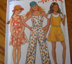 NEW LOOK Sewing Pattern 6519 - 7-12 - GIRLS SUMMER JUMPSUIT JUMPER