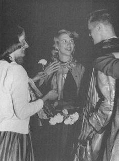 Plath at the Quadigras dance, Smith College 1954.