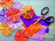 我們看到了。我們是生活@家。: 拿出色紙,剪出蜘蛛網,來自加拿大的Omiyage Blog