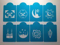 Islamic pattern design cookie cake stencils set of by Stenciland