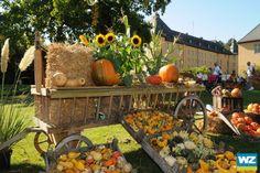 """Ein """"sommerlicher"""" Herbstmarkt auf Schloss Dyck lockte am Samstag viele Menschen auf das Gelände. Der """"Schlossherbst"""" findet zum zweiten Mal statt und geht noch bis zum 3. Oktober."""