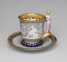 Liberty cup and saucer by Union Porcelain Works, Brooklyn, New York, USA 1876