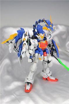 Custom Build: MG Shenlong Gundam [Altron Gundam Glory of Losers Pack Version] Gundam Wing, Gundam Model, Dragon Ball, Color Schemes, Wings, News, Goku, Building, Collection
