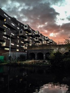 East London flat at sunset