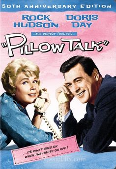 Pillow Talk with Rock Hudson and Doris Day - For more, visit http://www.pinterest.com/AliceWrenn/