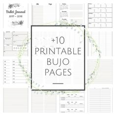 +10 Bullet Journal Printable Pages available for free!