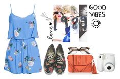 """""""Good Vibes"""" by thaisa1989 ❤ liked on Polyvore featuring Fujifilm, Oasis, Keds and MINKPINK"""