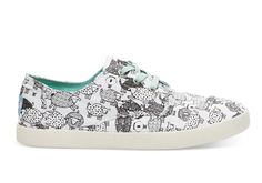 undefined White Canvas Sheep Women's Paseos