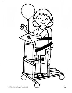 A Disabled Child In Give Tools To Facilitate Its Activity