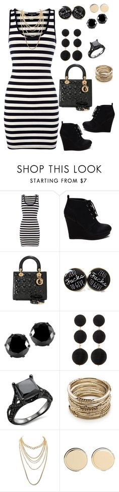 """Black n White!"" by ericjen8685 ❤ liked on Polyvore featuring West Coast Jewelry, Cara, Sole Society, Charlotte Russe and Givenchy"