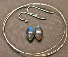 Gemstone sterling silver earrings kit sterling by GemstonebyPM, $8.90