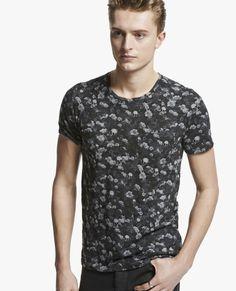 """T-shirt col rond à imprimé """"Rock & Roses"""""""